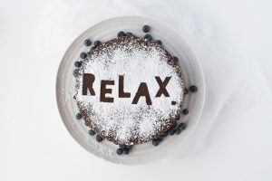relax, enjoy food